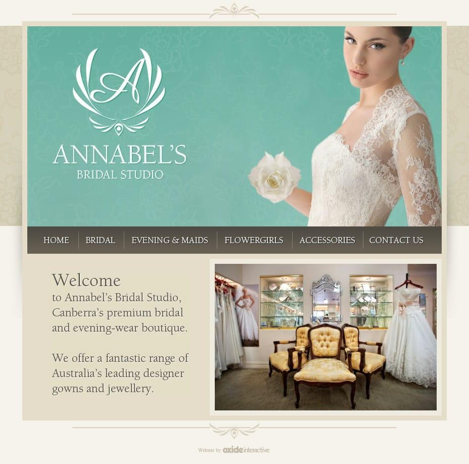 Annabels Bridal HTML Website Homepage