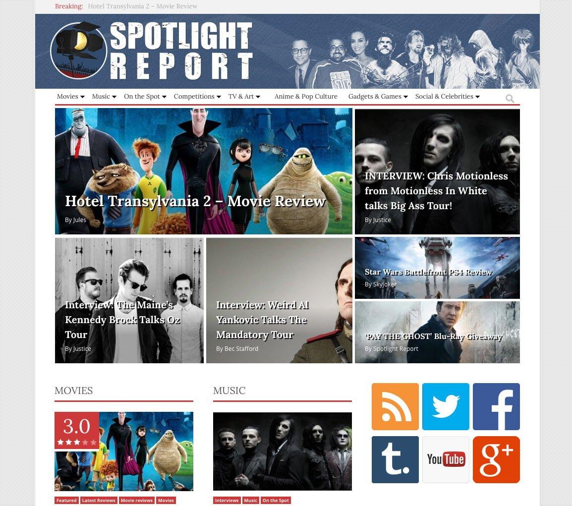 Spotlight Report Home
