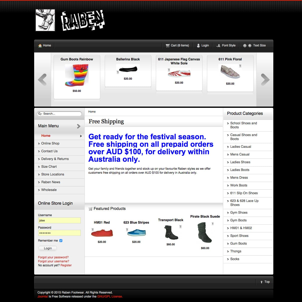 Raben Footwear Home - Oldsite Joomla