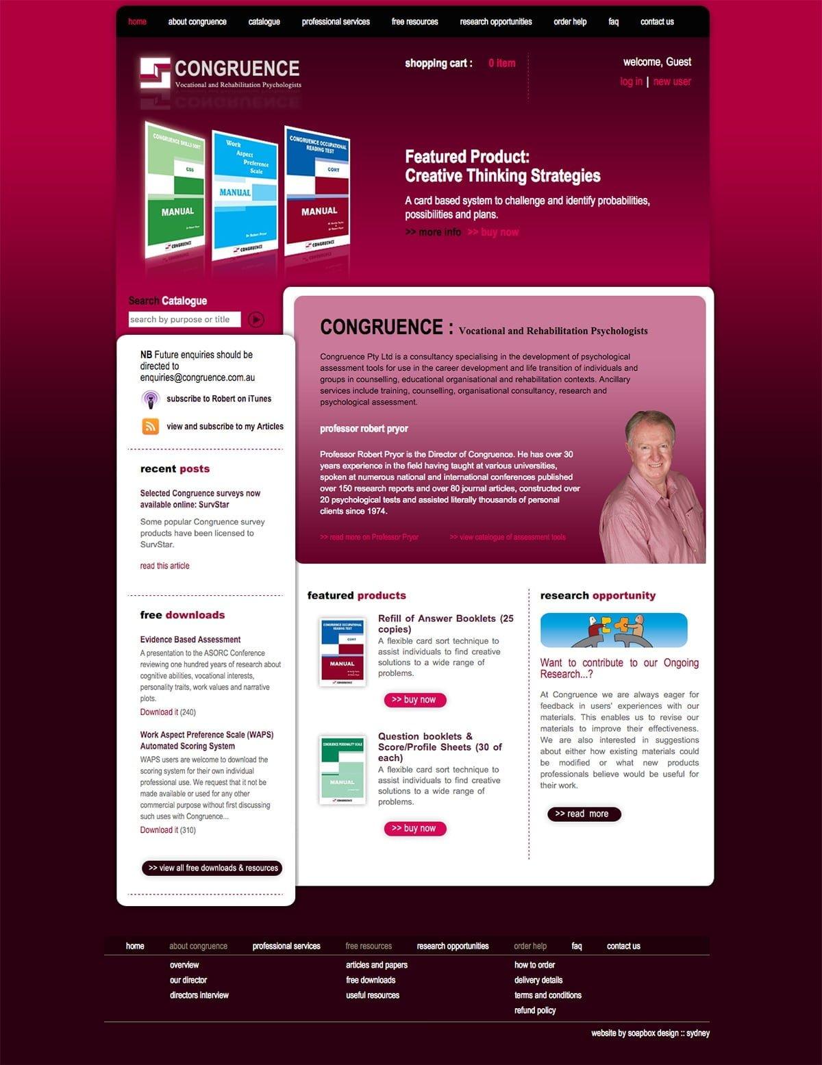 Congruence Joomla 1.5 Home Page