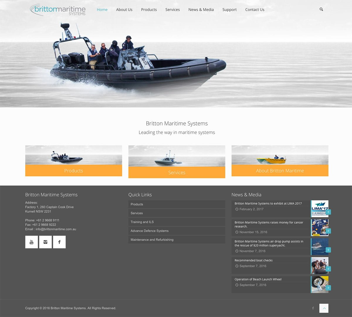 Britton Maritime WordPress Homepage