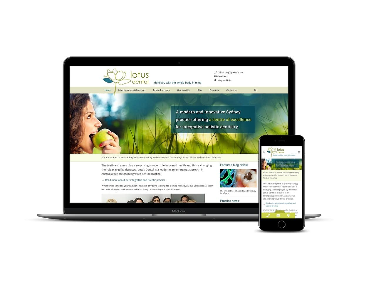 Lotus Dental - Small Web Development